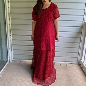 Red Indian/Pakistani Lengha Choli